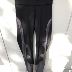 Lululemon Lab rare black and silver leggings
